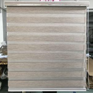 Image 2 - Custom Made 80% Blackout Dubbele Laag Roller Zebra Blinds Gordijnen Voor Woonkamer 12 Kleur Zijn Beschikbaar