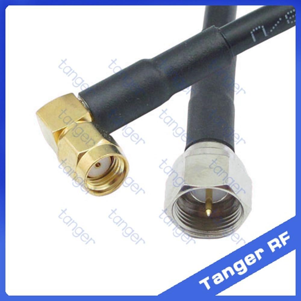 b2b525892d52 Лидер продаж Tanger F штекер для RP-SMA разъем муж правый угол rf RG58  Пигтейл Jumper коаксиального кабеля 20 дюйма 50 см Высокое качество