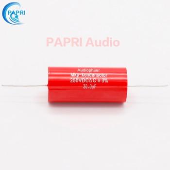 цена PAPRI 30UF 250VDC Axial MKP DIY Audio Grade Capacitor For HiFi Tube Guitar Amplifier  Lot/1PCS онлайн в 2017 году
