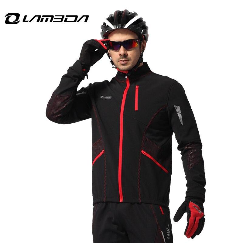 Hiver cyclisme jeresy ensembles vélo vêtements hommes coupe-vent chaud de bicyclette de vélo vêtements à manches longues Veste Pantalon Définit tenues de sport
