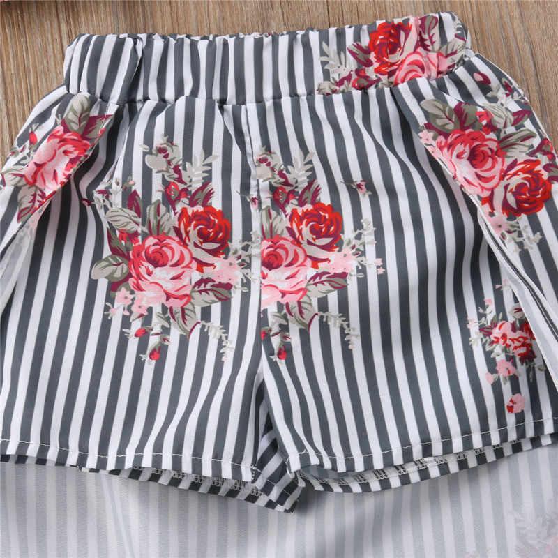88b08b08ff77 ... Stylish Summer Girls Flower Clothes Set Fashion Baby Girls Ruffles  Blouse Tops+Long Skirts With