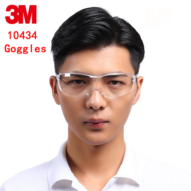 3M 10434 streamline goggles Genuine security 3M protective goggles Anti-fog Anti-scratch Anti-shock protective glasses safety