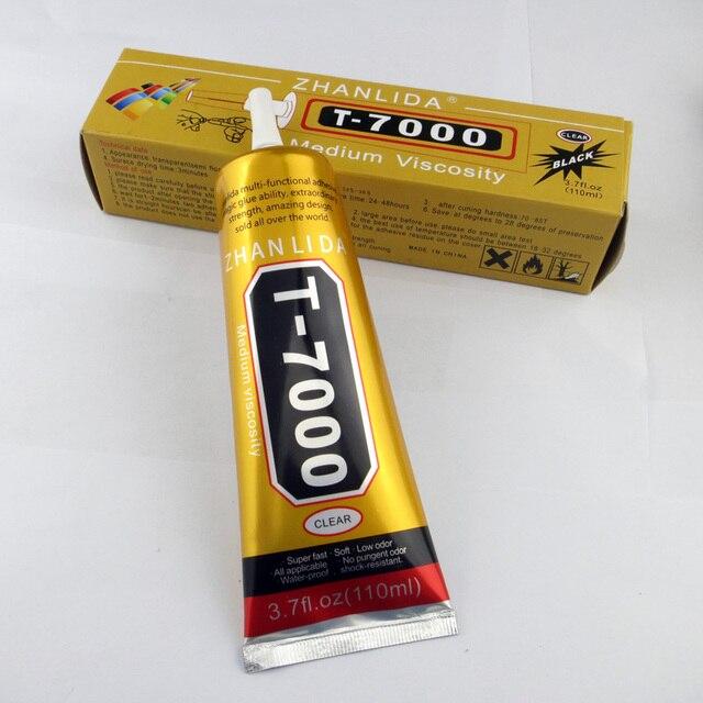 018396255a6 1 tubo negro T7000 pegamento 110 ml Super Adhesivo teléfono celular pantalla  táctil Marco de reparación