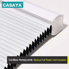 Half/Full Blackout Honeycomb Blinds Pull Rod Control Nonwoven Fabric Cordless Cellular Shade Curtains Custom Size