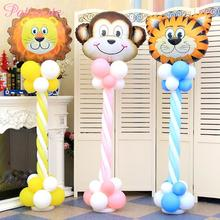 PATIMATE Latex Balloon Column Animal balloons jungle party decorations kids birthday supplies Baby shower Decoration