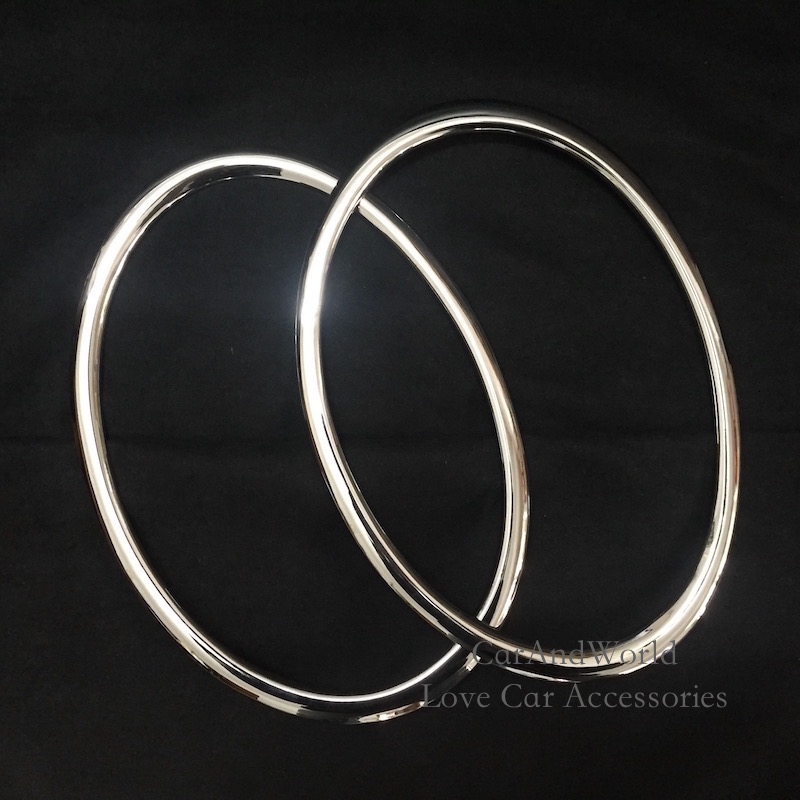 Head Lamp Front Bumper Headlight Ring Trim Cover For Nissan Juke 2010 To 2014 ABS Chrome Car-Styling Accessories 2pcs/set