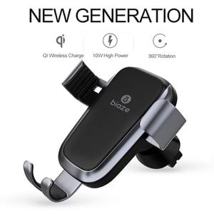 Image 5 - Biaze Car Air Vent Mount Qi Caricatore Senza Fili Per iPhone XS Max X XR 8 Veloce di Ricarica Supporto Del Telefono Dellautomobile per la Nota di Samsung 9 S9 S8