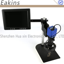 Big discount 1080P 45 FPS Digital Industrial Microscope Camera 56 LED Adjustable light source 100X C-Mount Lens 8″ LCD Monitor