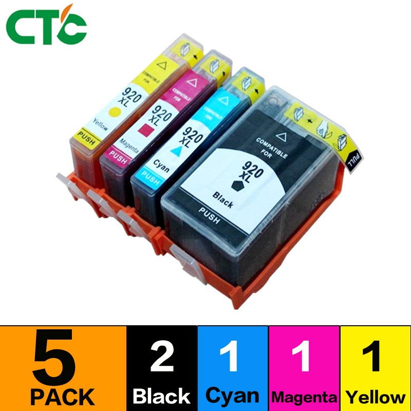 5X Compatible for 920 ink cartridge 920XL ink cartridge with chip arc for officejet 6500a 6000 6500 7000 7500A
