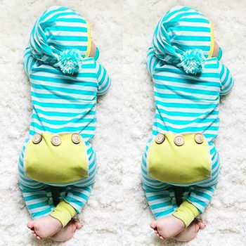 Newborn Cute Hooded Romper