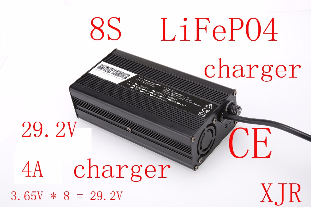 29 2v 4a charger for 8s lifepo4 battery pack smart charger support cc  cv
