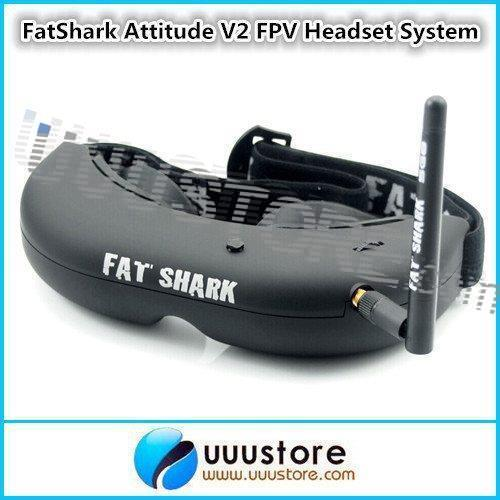 FatShark AttitudeSD V2 FPV Headset Video Glasses System w/Trinity Head Tracker and CMOS Camera