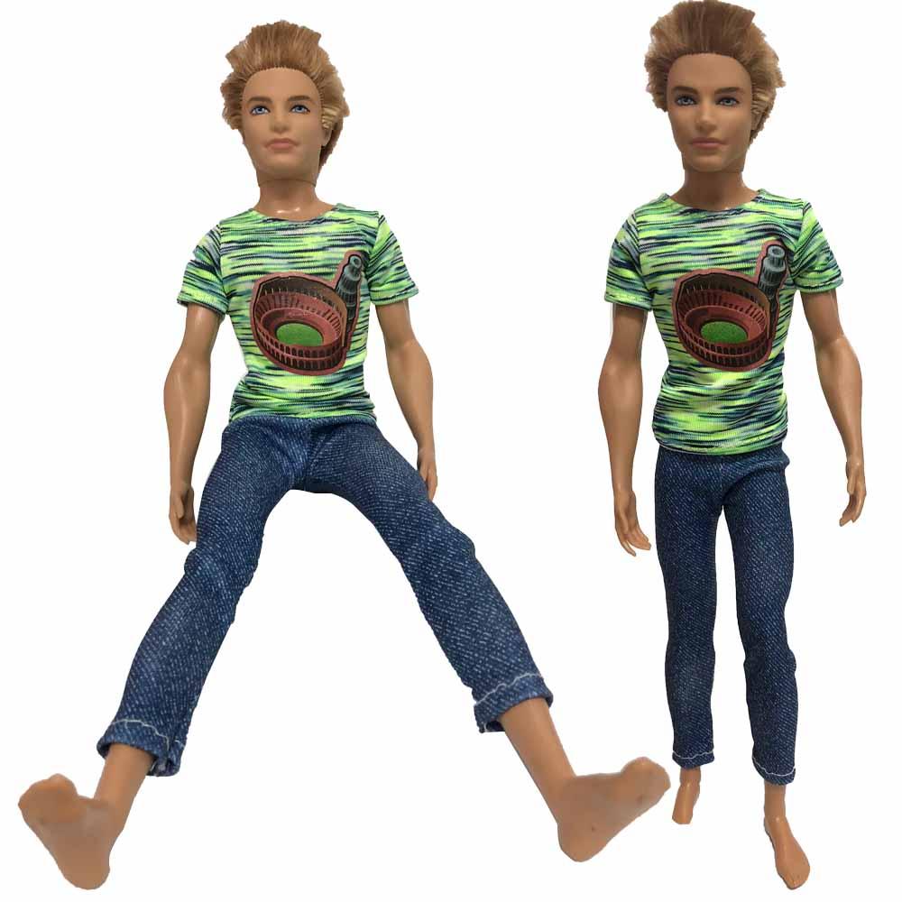1 6 top in maglia maschile per 12 /'action figure  ken doll