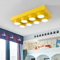 Личности мультфильм свет детская светодиодный спальня потолочный светильник творческий блок парк развлечений детский сад потолочные свет