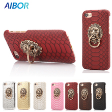 AIBOR For iPhone 5 5S SE Case For iPhone X 7 8 Plus 3D Lion Head Armor Case For iPhone 6 6S Plus 6 8 Plus Sexy Snake Skin Cover