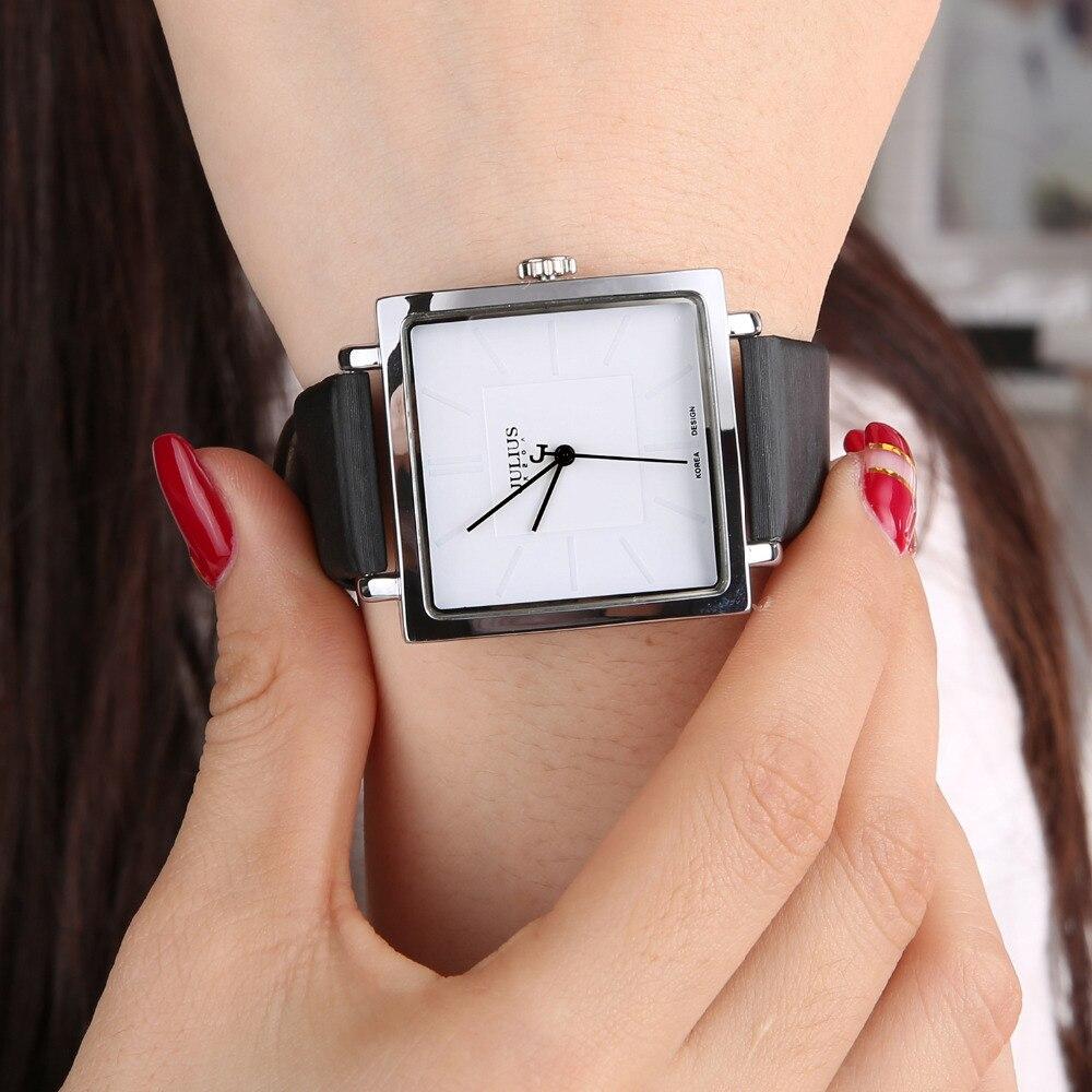 Мода 2018 г. бренд квадратный для женщин часы кожаное платье Кварцевые женские часы роскошные золотые браслет наручные relogio feminino
