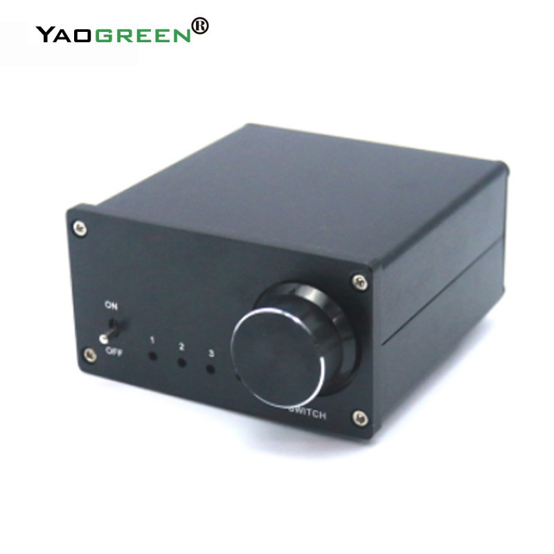 AC 100V to 240V 4 Input 1 Output and 1 Input 4 Output Two-way Audio Signal Switcher Splitter Selector Box Sound with RCA цена