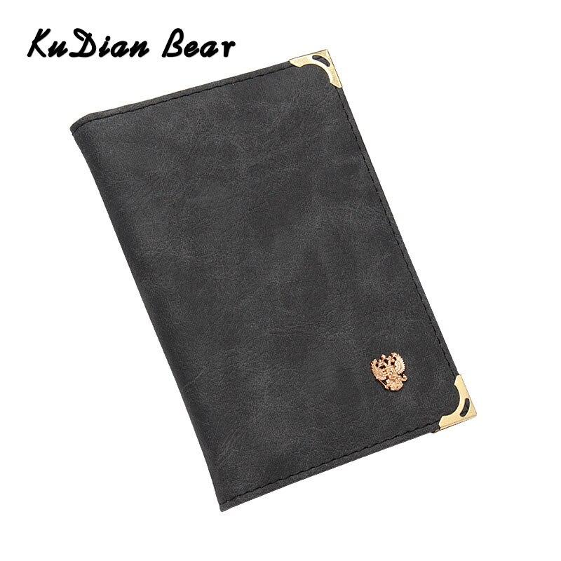 KUDIAN BEAR PU Leather Drive Holder License Holder Credit Card Wallet Card Protection Document Wallet Porte Carte BIH115 PM4
