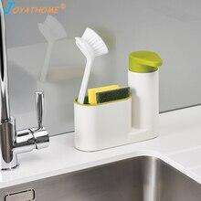 Joyathome Kitchen Storage Rack for Cleaning Sponges Brushes Soap Dispenser Bottle Save Space Sink Organizer