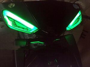 Image 4 - مصباح إشارة الانعطاف للدراجة النارية من LED للدراجة البخارية للدراجة البخارية ياماها Cygnus xc مصباح للضباب أضواء مكابح الذيل للدراجات النارية غاسل