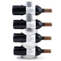 الفولاذ المقاوم للصدأ النبيذ الرف الحديد ديكور الحائط الحائط Racks-4 النبيذ زجاجة النبيذ الرف (33-4)
