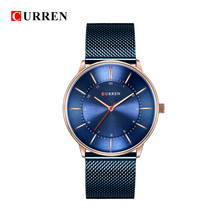 CURREN 2019 Top Brand Luxury Fashion Leather Strap Quartz Men Watches Casual Date Business Male Wristwatches Clock Montre 8303