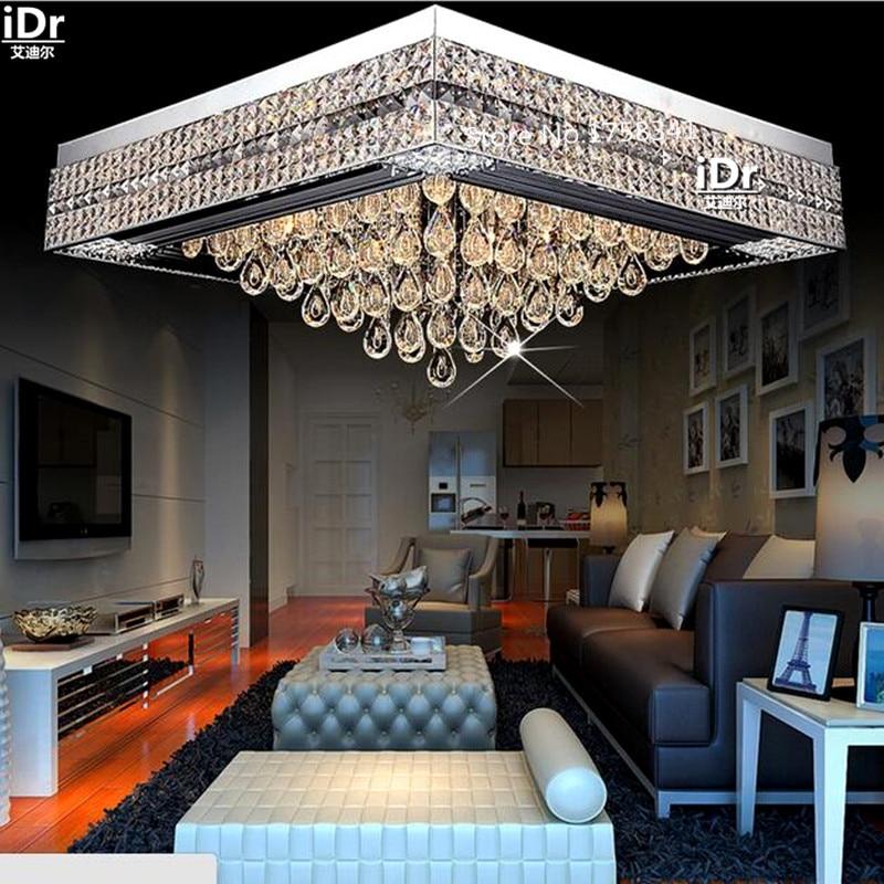 K9 Kristall Lampe Vintage Minimalistischen Wohnzimmer Rechteckige Led Schlafzimmer Kreative Deckenleuchten L800xW800xH350mm