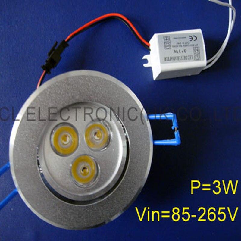 Licht & Beleuchtung High Power Led Deckenleuchte 3 Watt Free Verschiffen 5 Teile/los Hohe Qualität Led Deckenleuchte 3 Watt Led Lampe