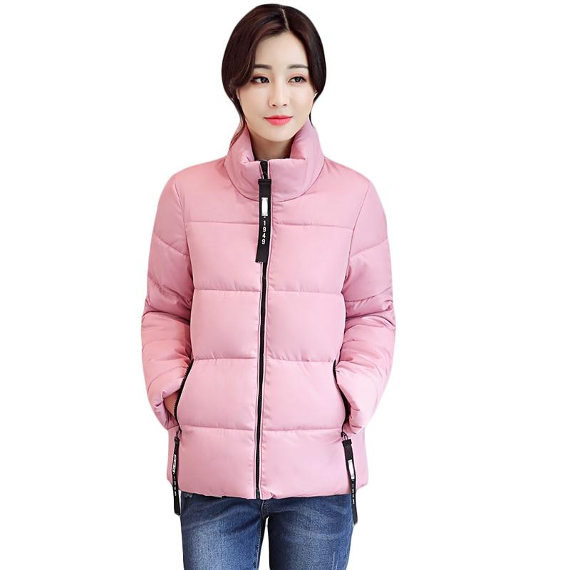2017 Women Autumn Winter Jacket And Coat Girls Sweet Fashion Zipper Cotton-padded Warm Parkas Female Winter Coat Outwear CM1426