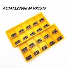 цена на Tungsten Carbide AOMT123608M VP15TF R0.8 Internal Metal Cutting Tools Carbide Tool CNC Machine Tool Milling Tool Milling Blade