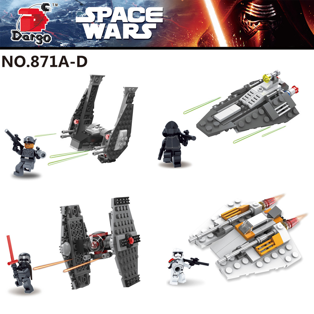 4pcs Star Wars First Order Special Forces Tie Fighter Kylo Rens