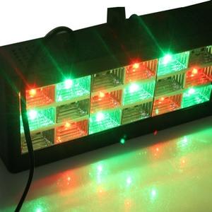 Image 5 - קול מוסיקה בקרת 18 W RGB Led המפלגה DJ שלב אפקט תאורה ההבזק מופע לייזר מקרן דיסקו אור 220 V AC 110 V מועדון בר