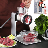 Manual meat grinder household grinder nozzle for sausage stuffer machine kitchen tools Frozen thawing plate Beef mincer meatball