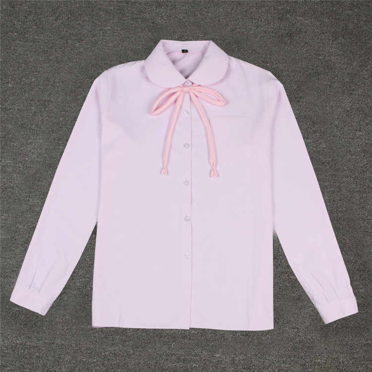 ff72ca1a424e78 ... Japanese Uniform School White Shirt Women 2018 Autumn Winter New  Fashion Female Basic Classic Single Breasted ...