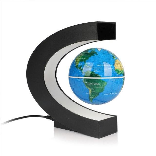 USB illuminating school teaching supplies suspension anti-gravity earth magnetic levitation globe home desk decoration 4