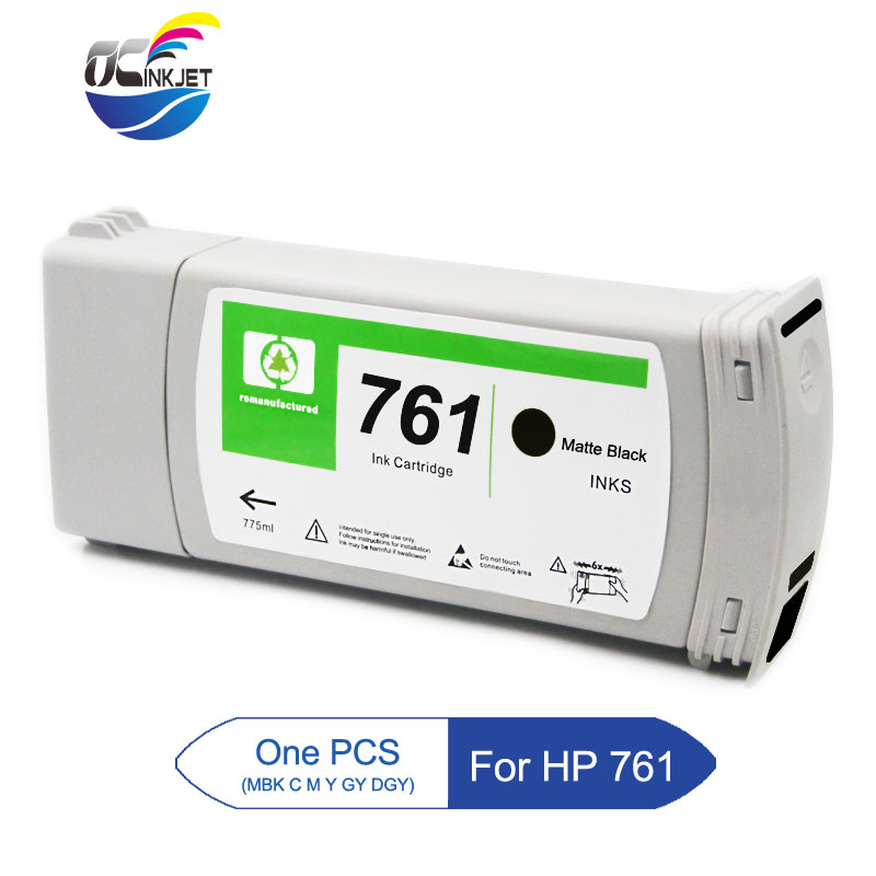 Third Party For HP 761 Remanufactured Ink Cartridge Full With Ink For HP DesignJet T7100 T7200 Printer (6 Colors For Choose) image