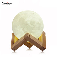 Creative Rechargeable 3D Magical Moon LED Night Light Moonlight Desk Lamp Bedroom Night Lights Home Decoration