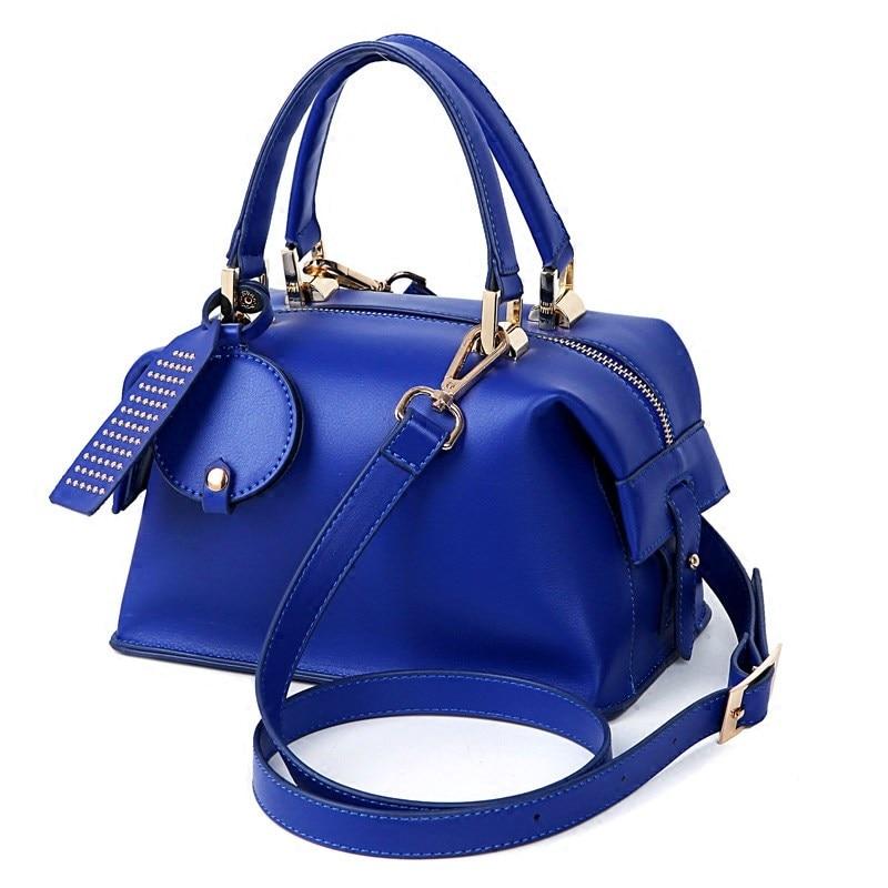 Women Luxury Designer Sapphire font b Handbag b font Occident Style Fashion Classic Boston Bag Ladies