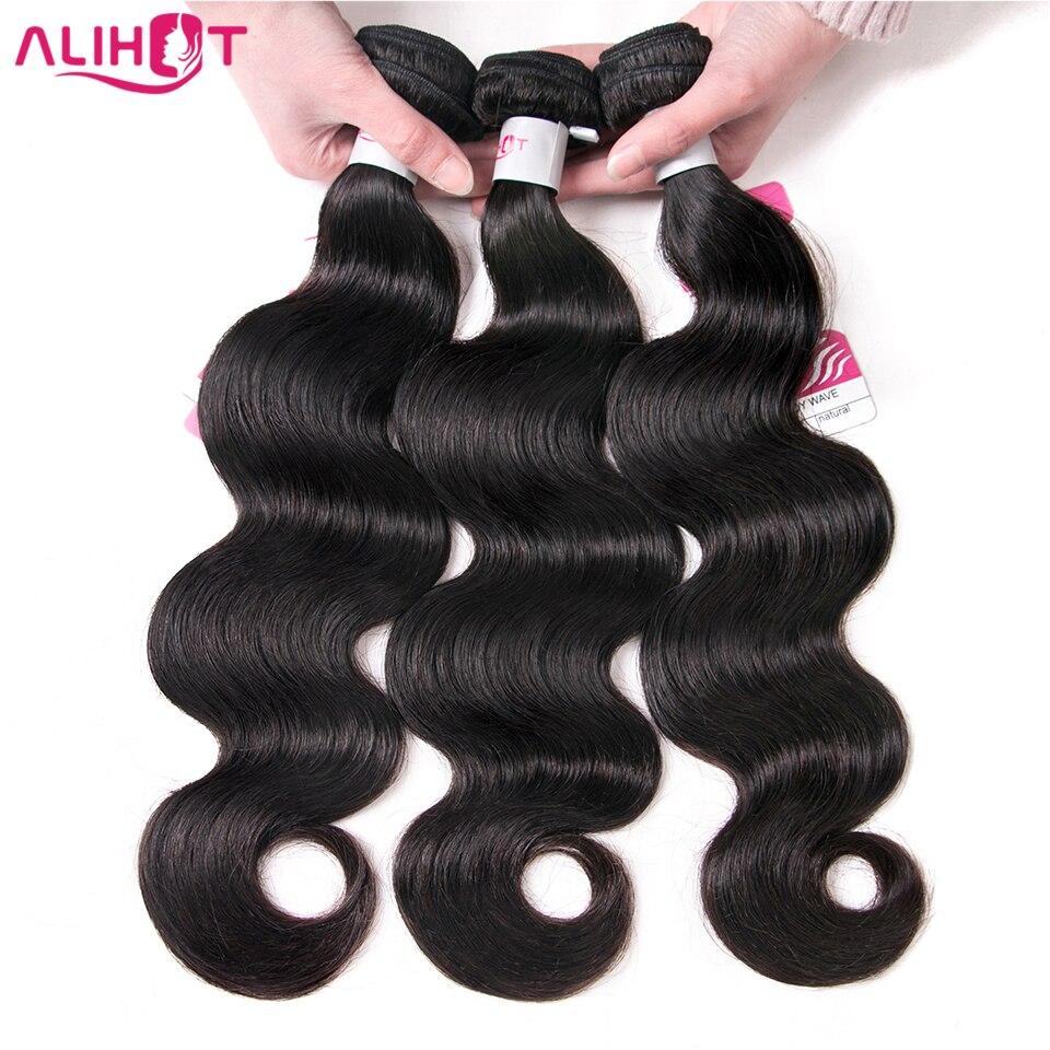 Али Горячие перуанские пучки волос с закрытием 100% объемная волна Волосы remy расширение 4 шт./лот человеческих волос Связки с фронтальной и за...
