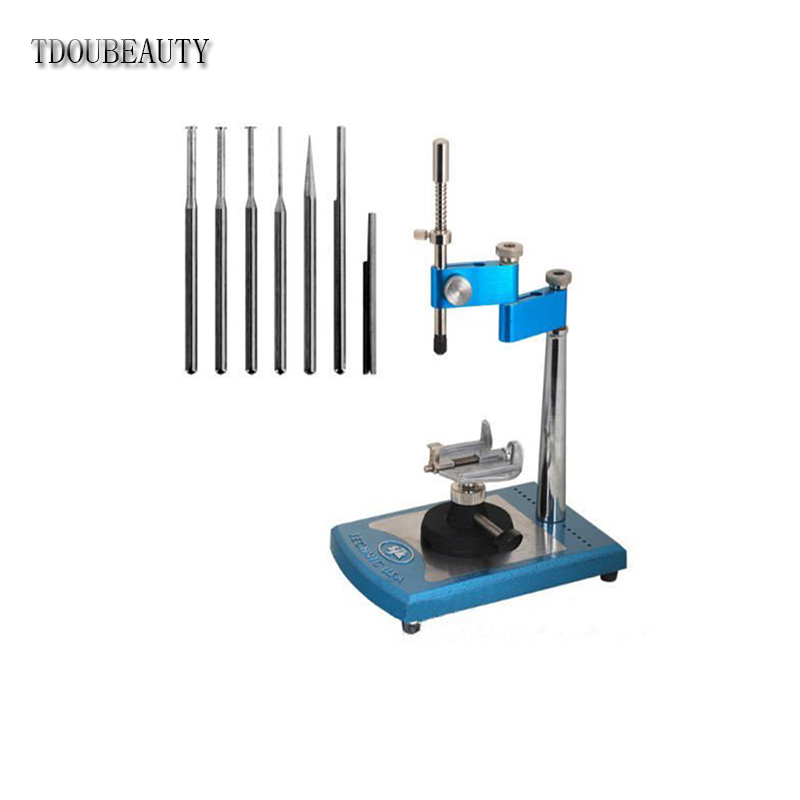 JT10 100% Simple Viewer Portable Dental Parallel Surveyor Visualizer Spindle Equipments 7pcs Attached Exchangeable Spindles manka care dental x ray film illuminator viewer light panel screen led film viewer x ray film viewer medical viewer one bank