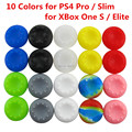20 pcs Rubber Silicone Analog Thumb Stick Grips Cap Cover for PS4 Pro Slim for Xbox One Elite S Controller Thumbsticks Caps