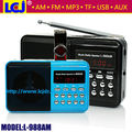 Livre baratos envio dual band portátil pocket mini digital AM FM radio TF micro SD music player USB mini alto-falante