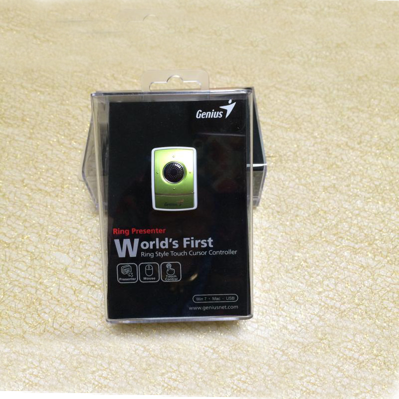 2018 new 2.4G wireless 1200DPI Elf finger mouse laser micro ring green mouse Built-in ba ...