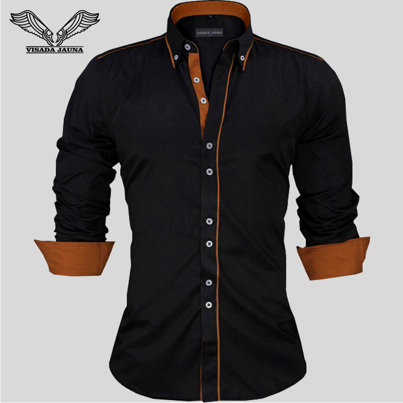 Men Dress Shirts Europe Size New Arrivals Stylish Slim Fit