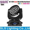 В китае новый светодиодный dmx 5in1rgbwa 36 сид moving головной мыть светодиодный dj производит эффект свет 36 шт. 5in1 wireless dmx зум Перемещение головы мыть светодиодный