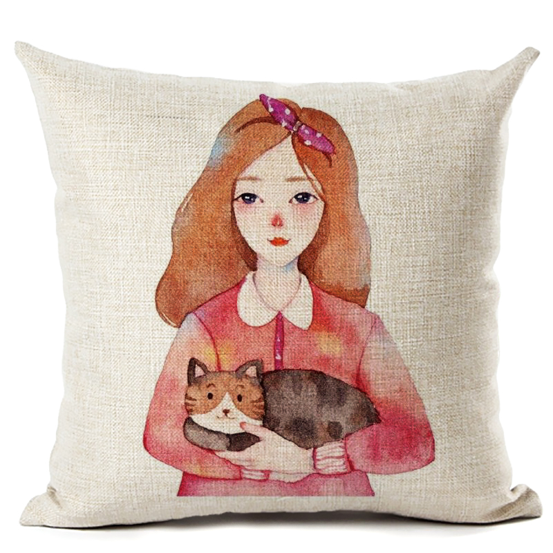Romantic Simple Elegant Girl Home Decor Sofa Car Seat Christmas For Decorative Cushion Cover Pillow Case Capa Almofada