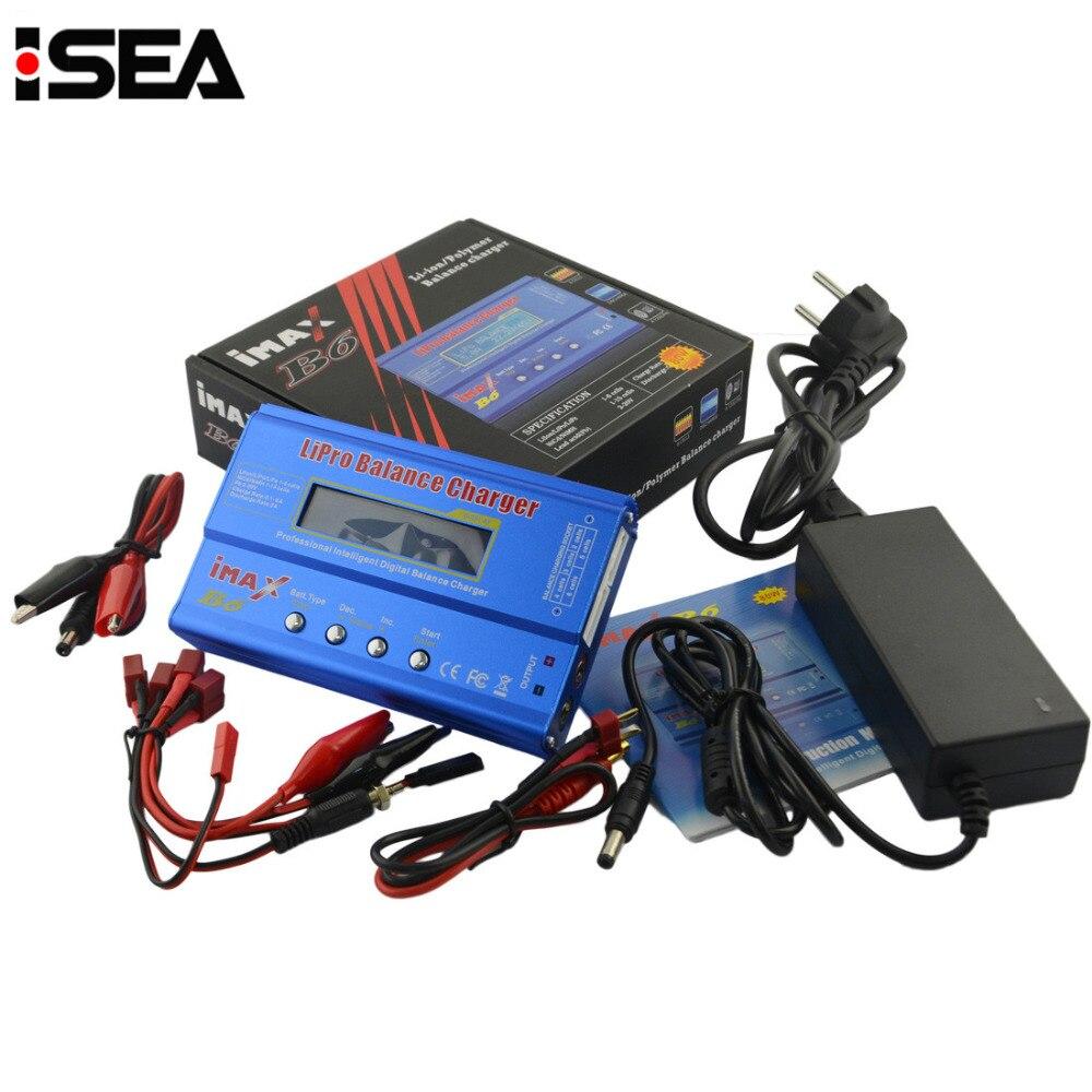 Nuevo iMAX B6 80 W con AC adaptador 15 V 6A fuente de alimentación RC Lipo batería Balance cargador Discharger 50 W B6 y 12 V 5A adaptador opcional
