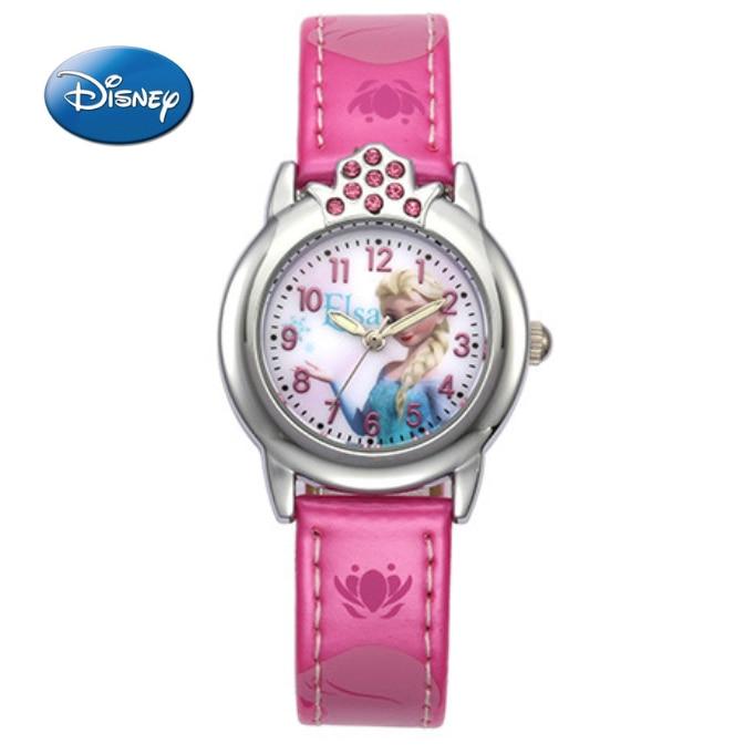 Children's Watches The Cheapest Price Cartoon Frozen Childrens Watches Disney Brand Children Girls Wristwatch Quartz Leather Waterproof Child Watch Girl
