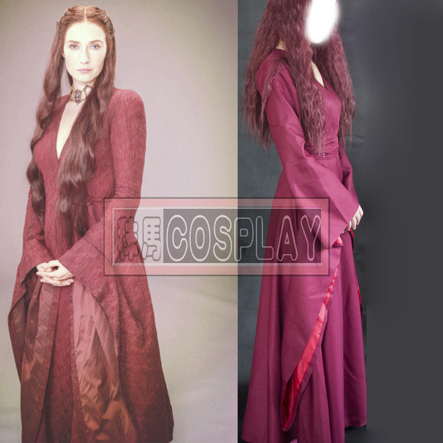 Game of Thrones The Red Woman Melisandre Dress Costume Halloween ...