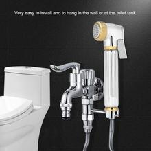 Solid Brass Toilet Bidet Sprayer Wall Mount Shower Bathroom Handheld Bidet Diaper Spray Sprayer Shattaf Bathroom Bidet Faucet bathroom toilet hand held shattaf bidet diaper sprayer kit wall mount golden toilet flusher bidet sprayer set